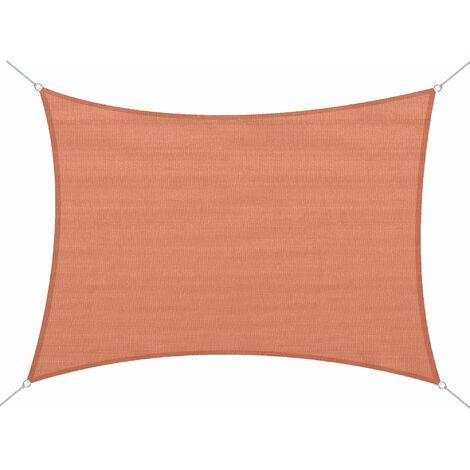 Voile d'ombrage rectangulaire 4 x 6 m toile solaire taud de soleil brique terracotta