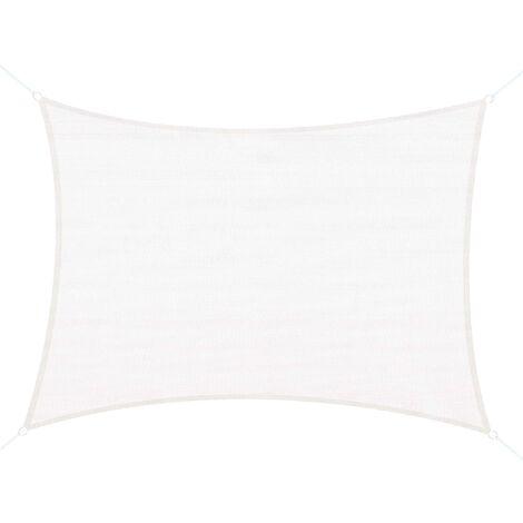 Voile d'ombrage rectangulaire 4 x 6 m toile solaire taud de soleil crème - Beige