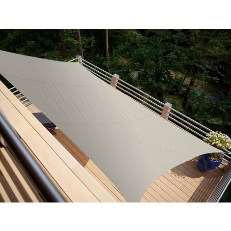 Voile d'ombrage rectangulaire 4,20 x 3,00 m - Taupe