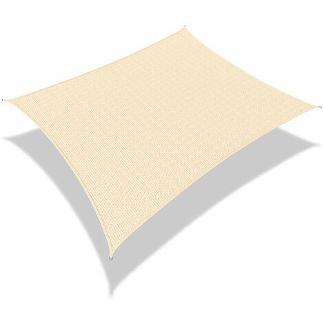Voile d'ombrage rectangulaire avec 24pcs kit de fixation