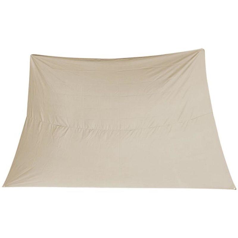 Voile d'ombrage rectangulaire coloris beige - Dim : 3 x 4 m