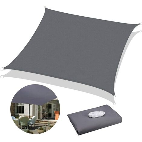 """main image of """"Voile D'ombrage Rectangulaire, Voile D'ombrage Carré, Voile D'ombrage Imperméable Carré, Protection des Rayons UV et Tissu Imperméable, Voile d'ombrage pour Extérieur/Terrasse/Jardin(2.5 * 3.5M)"""""""