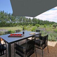 Voile d'ombrage trapèze résistante au vent - haute densité de 280g/m2