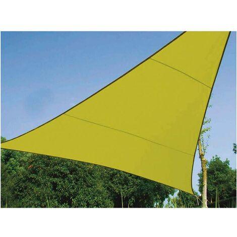 Voile d'ombrage triangle 3,6 m verte