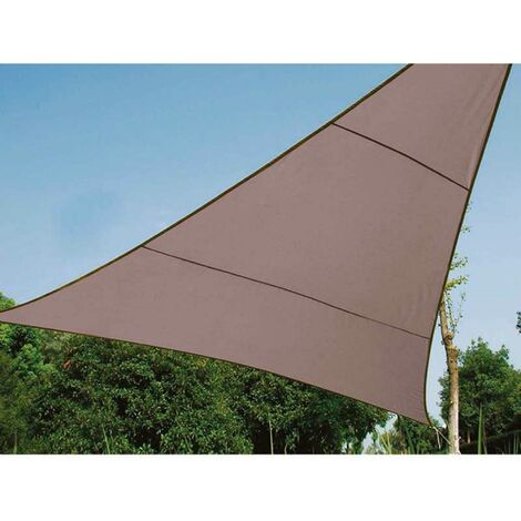 Voile d'ombrage triangle 5 m taupe