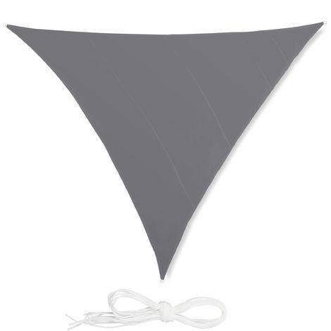 Voile d'ombrage triangle diffuseur d'ombre protection soleil balcon jardin UV 6x6x6 m toile imperméable, gris