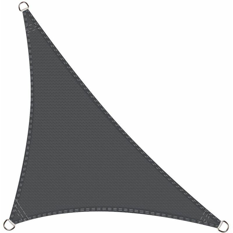 Cool Area - Voile d'ombrage Triangle Rectangle 5 x 5 x 7 mètres Une Protection des Rayons UV, résistant et Respirant, Couleur Graphite