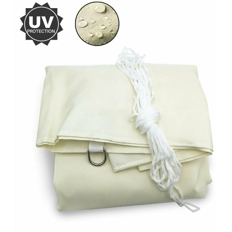 Terre Jardin - Voile d'ombrage triangulaire ecru 3.6 mètres - ecru