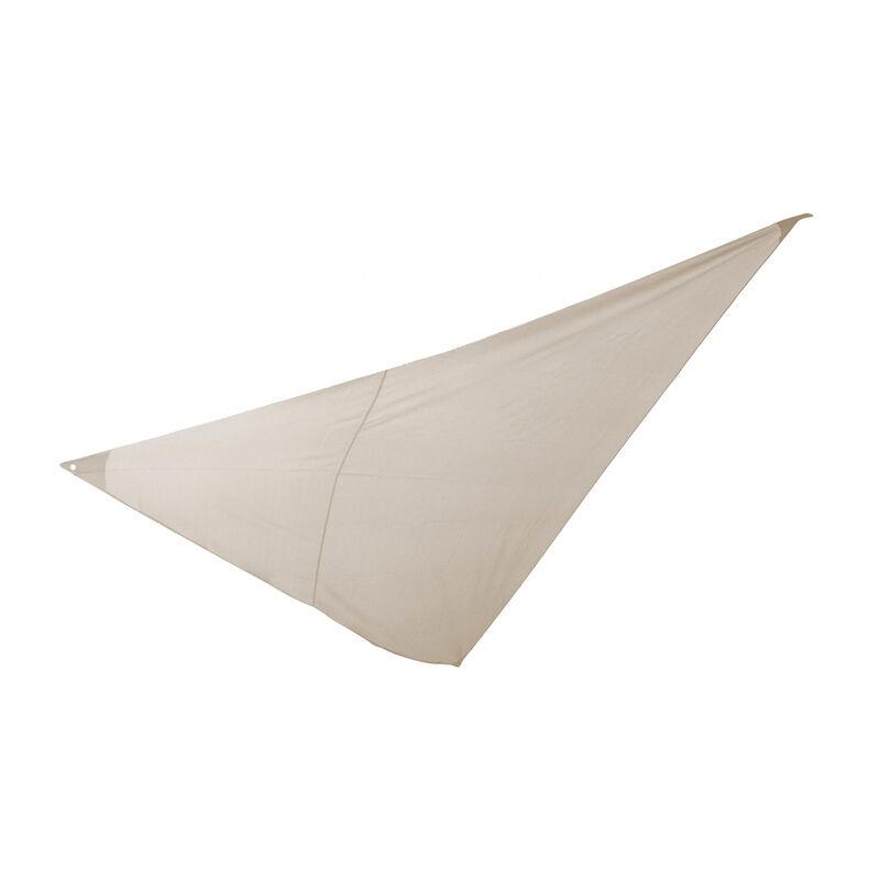 Essenciel Green - Voile d'ombrage triangulaire 3x3x3m beige