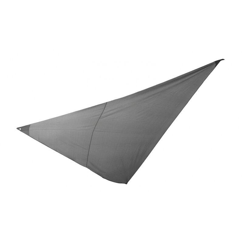 Essenciel Green - Voile d'ombrage triangulaire 3x3x3m gris foncé