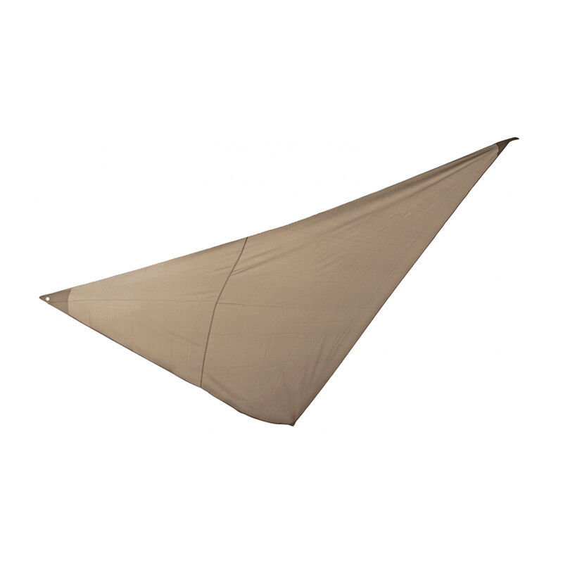 Essenciel Green - Voile d'ombrage triangulaire 3x3x3m taupe
