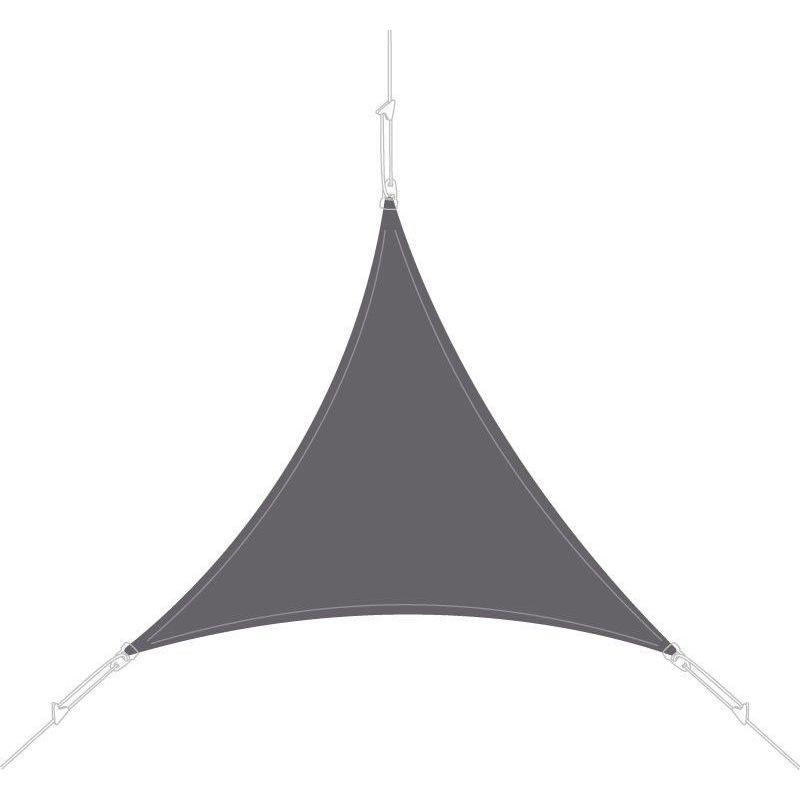 Voile d'ombrage triangle 4x4x4m ardoise - Ardoise