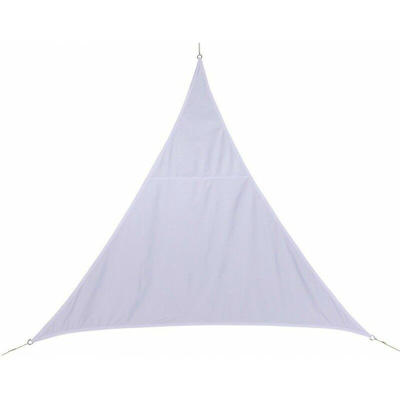 Hesperide - Toile solaire 4x4x4m luxe Hespéride Curacao blanc - Blanc, Forme triangulaire 4m