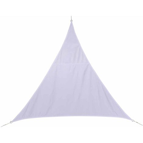 Voile d'ombrage triangulaire 4 x 4 x 4 m - Curacao - Blanc