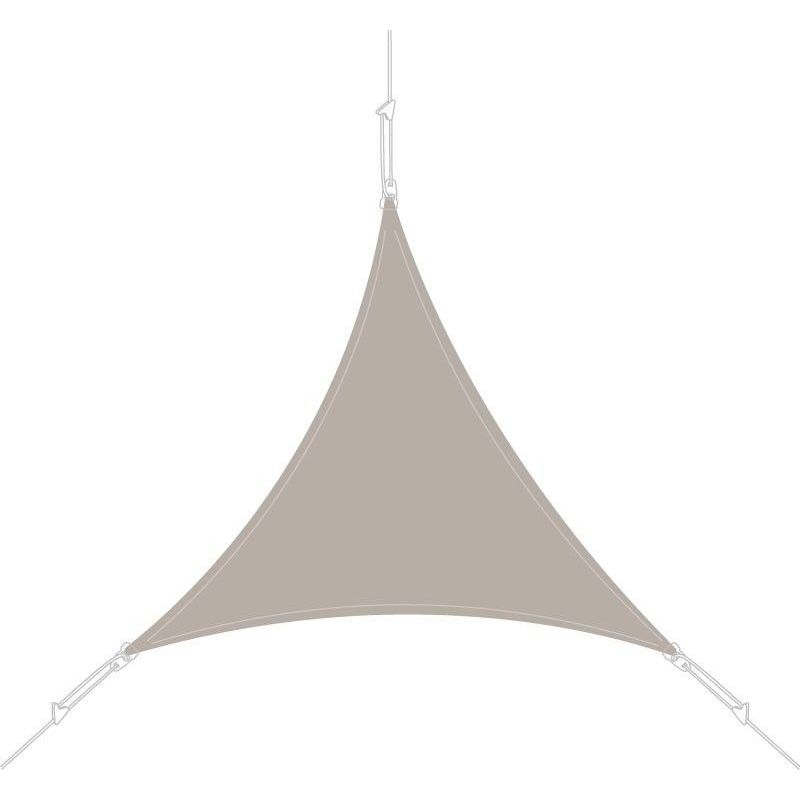 Voile d'ombrage triangle 5x5x5m taupe - Taupe