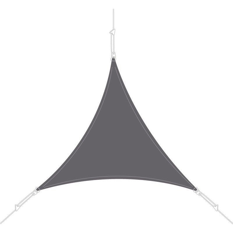 Voile d'ombrage triangle 5x5x5m ardoise - Ardoise