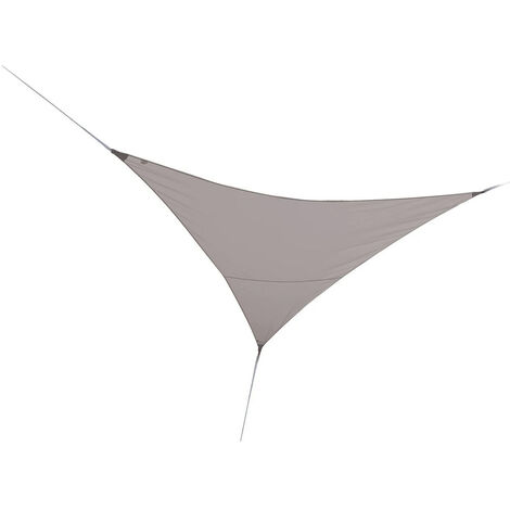 Voile d'ombrage triangulaire 5 x 5 x 5 m - Taupe