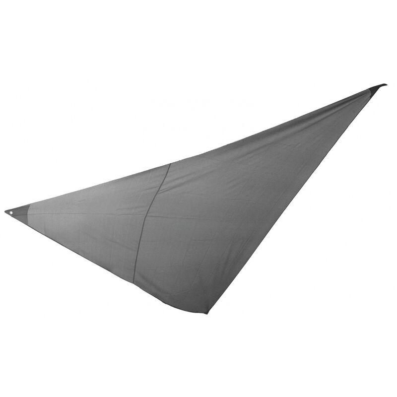 Essenciel Green - Voile d'ombrage triangulaire 5x5x5m gris foncé