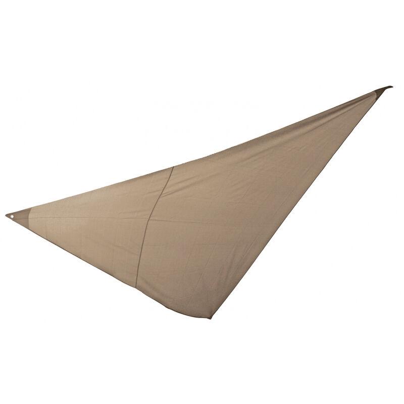 Essenciel Green - Voile d'ombrage triangulaire 5x5x5m taupe