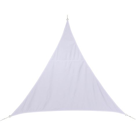 Voile d'ombrage triangulaire Curacao - 5 x 5 x 5 m - Blanc - Blanc