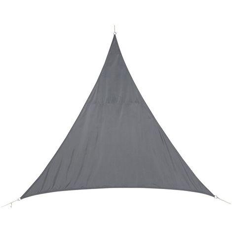Voile d'ombrage triangulaire Curacao - 5 x 5 x 5 m - Bleu Gris - Gris