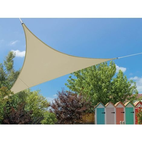 Voile d'ombrage triangulaire Flex 3,60 x 3,60 x 3,60 m - Ivoire