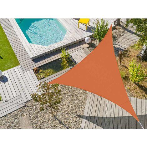 Voile d'ombrage triangulaire Flex 5 x 5 x 5 m - Camel
