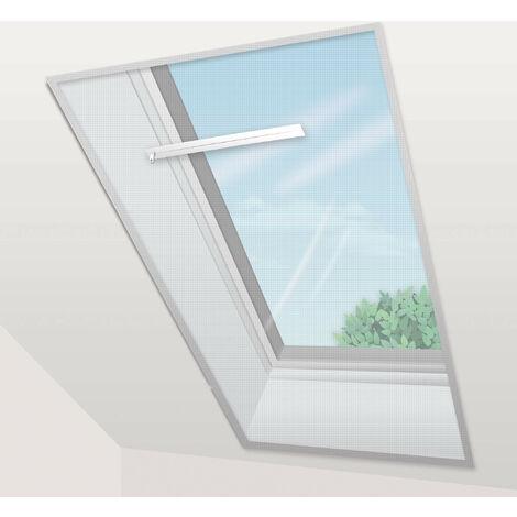 Voile Moustiquaire Fenêtre de Toit 150x180 cm Blanc (lot de 2 pc) - beige