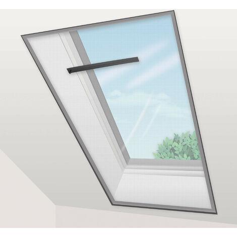 Voile Moustiquaire Fenêtre de Toit 150x180 cm Noir (lot de 2 pc) - marron