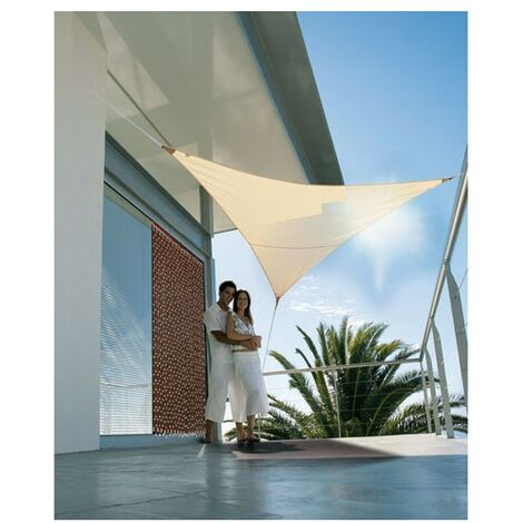 VOILE OMBRAGE TRIANG.SEREN.5X5M SABLE