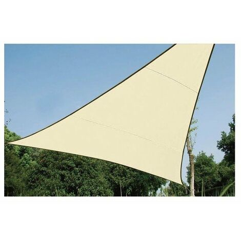 Voile solaire perm,able - triangle - 5 x 5 x 5 m - couleur : champagne