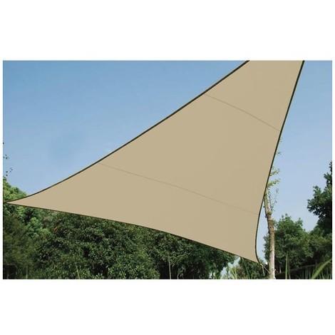 Voile Solaire Perméable - Triangle - 3.6 X 3.6 X 3.6 M - Couleur : Champagne