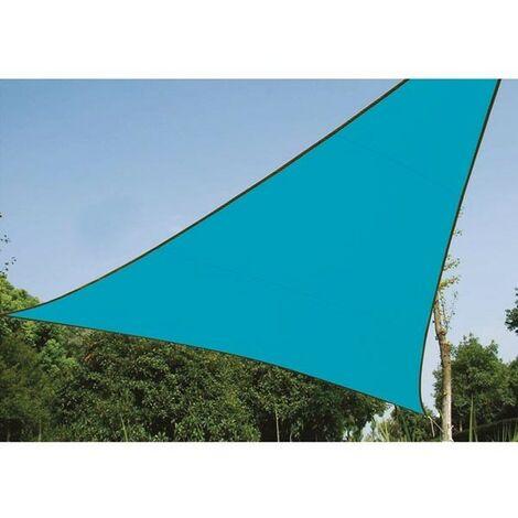 VOILE SOLAIRE - TRIANGLE - 3.6 x 3.6 x 3.6 m - COULEUR : BLEU CIEL (RI8378)