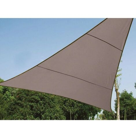 VOILE SOLAIRE - TRIANGLE - 5 x 5 x 5 m - COULEUR: GRIS TAUPE (RI8388)