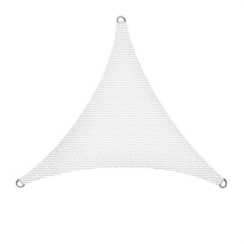 Estexo - Voiles solaires Voiles de protection solaire Protection solaire Protection UV Weiß / 4x4x4m (Dreieck)
