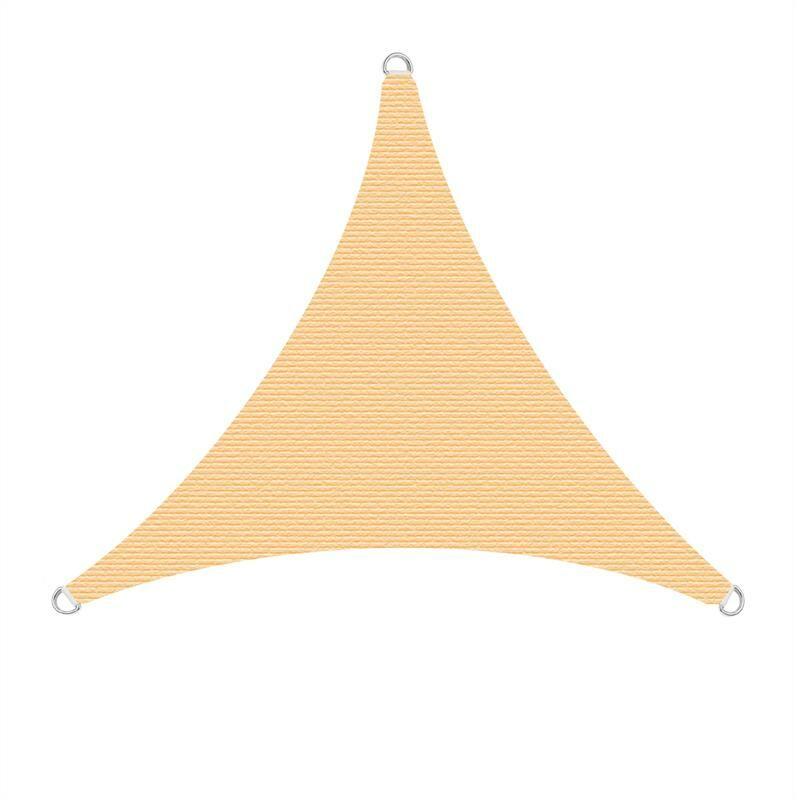Voiles solaires Voiles de protection solaire Protection solaire Protection UV Beige / 4x4x4m (Dreieck)