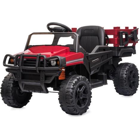 Voiture électrique enfant 3 à 8 ans - buggy quad électrique 2 moteurs 35 W - V. max. 5 Km/h - télécommande - effets lumineux sonores - rouge