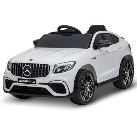 Voiture véhicule électrique enfants 12 V 35 W V. 3-5 Km/h télécommande effets sonores + lumineux blanc Mercedes GLC AMG
