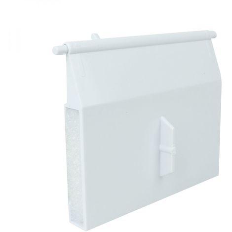 Volet pour skimmer de piscine hors sol - 12 x 14 cm - Blanc - Linxor