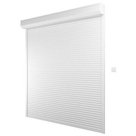 """main image of """"Volet Roulant Alu Electrique Filaire H220 cm x L120 cm ajustable blanc - Blanc"""""""