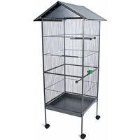 Volière cage à oiseaux canaries perruches perroquets métal 130 x 52 x 52 cm