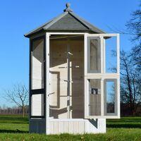 Volière Cage à oiseaux en bois de haute qualité 100 x 180 x 100 cm –Modèle ''Luise 309''
