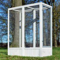 Volière Cage à oiseaux en bois de haute qualité 52 x 114 x 136 cm extension–Modèle ''Luise 310''