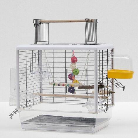 Volière | Cage à oiseaux ornement transparente en panneau acrylique - Transparent
