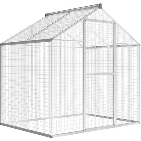 Volière d'extérieur Aluminium Grande cage à oiseaux 178 x 122 x 194 cm