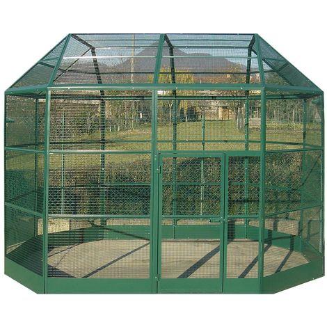Volière roma vert 350x230x265cm (5 box)