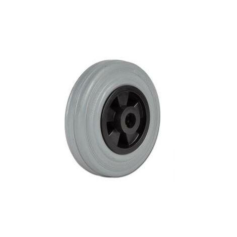 Vollgummirad - Kunststoff-Felge - mit Rollenlager - Rad-Ø 100 mm - Tragkraft 70 kg