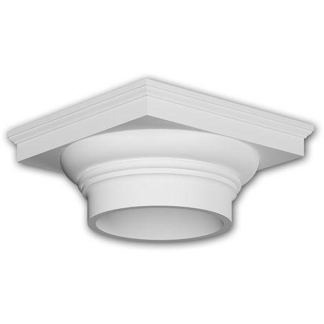 Vollsäulen Kapitell 411102 Fassadenstuck Säule Fassadenelement Toskanischer Stil weiß
