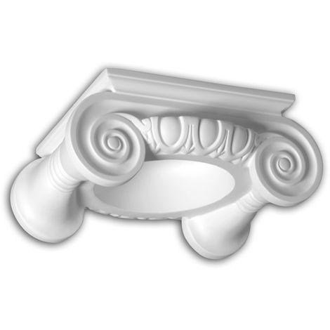 Vollsäulen Kapitell 441201 Fassadenstuck Säule Fassadenelement Ionischer Stil weiß