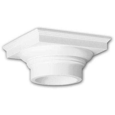 Vollsäulen Kapitell PROFHOME 111008 Säule Zierelement Dorischer Stil weiß